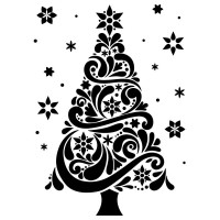 Modern Christmas Tree: Darice Embossing Folder