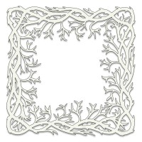 Clarity stamps Pochoir - Seaweed Frame / cadre d'algues