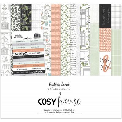 Collection de Papier Cosy House par Béatrice Garni