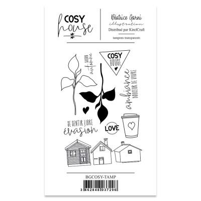 Cosy House - tampons transparents par Beatrice Garni