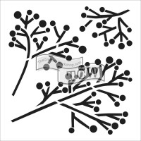 Twig & Berries - 15 x 15 cm Crafter's Workshop Template