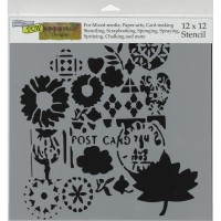 Postcard - 12 x 12 inch Template