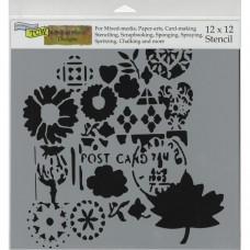 Postcard - 12 x 12 inch Template