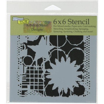 Star and Flowers 15 x 15 cm Crafter's Workshop Template
