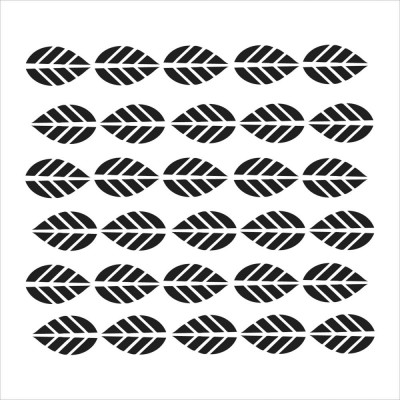 """Striped leaves 6""""x6"""" Crafter's Workshop Stencil"""