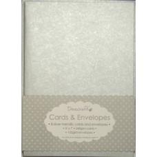 8 Dovecraft Cards and Envelopes Silver Metallic