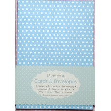 8 Cartes & enveloppes polka pastel