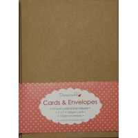 "10 Dovecraft 5 x 7"" kraft cards and envelopes"
