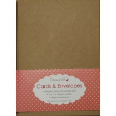 """10 Dovecraft 5 x 7"""" kraft cards and envelopes"""