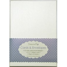 10 Dovecraft Cards and Envelopes White
