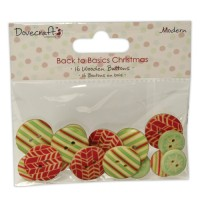Dovecraft Back to Basics Christmas Modern – Wooden Buttons