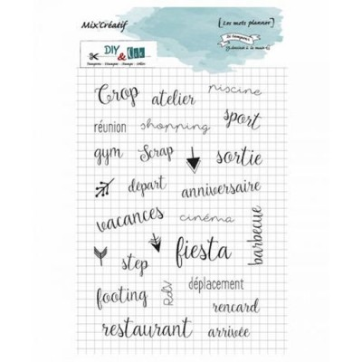 Mots planner - Clear stamps by French make DIY & Cie