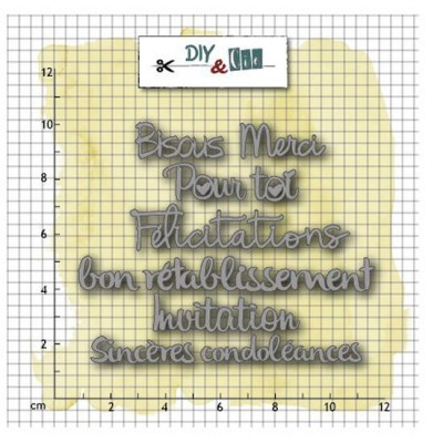 Carterie #2 - French card sentiments - dies by DIY & Cie