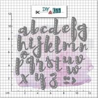 DIY & cie die - Stitched alphabet