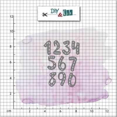 DIY & cie die - Stitched numbers
