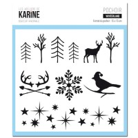 Winterland - Pochoir: Ateliers de Karine