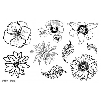 Designs by Ryn unmounted stamps - Flowers