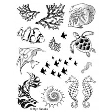 Designs by Ryn tampons non-montés - Sea Creatures 1