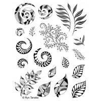 Designs by Ryn unmounted stamps - Spirals and Leaves