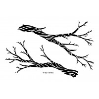 Designs by Ryn Stencil - Flowing branches