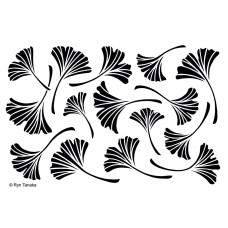 Designs by Ryn Stencil - Gingko