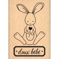 Doux bébé -  Wood Mounted Florilège Stamp