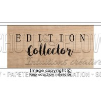 Chou & Flowers Wood Mounted Stamp - Edition Collector