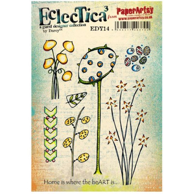 PaperArtsy Stamps Eclectica Darcy EDY14