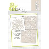 L'encre et l'image set of stencils and mask : Printemps fleuri
