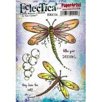 Eclectica {Kay Carley} EKC24 PaperArtsy Stamp