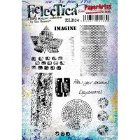 PaperArtsy stamps by Lin Brown ELB34 mounted on EZ foam