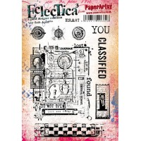 PaperArtsy stamps ESA07 mounted on EZ foam By Seth Apter