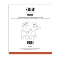 Sewing stencil Esprit Bohème Famille Etc - Les Ateliers de Karine