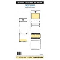 Tampons Chou & Flowers - Étiquettes de voyage