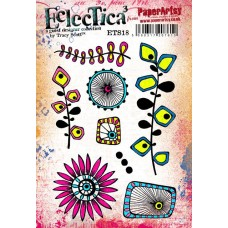 PaperArtsy Stamps Eclectica Tracy Scott ETS18