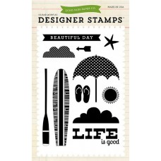 Beach Day stamps by Echo Park