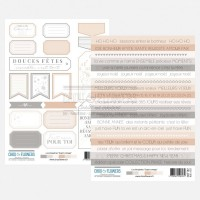 Two sheets of embellishments by Chou & Flowers - Esprit Cottage