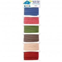 Elastic cord - 6 colours x 3.65 meters