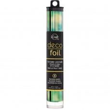 "Deco Foil Speciality Transfer Sheets 6""X12"" 5/Pkg - Emerald Watercolor"
