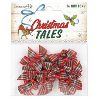 Dovecraft Christmas Tales Tartan Mini Bows