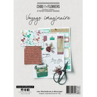 Chou & Flowers collection of Illustrations to cut out and use - Voyage Imaginaire