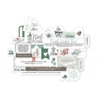 Flocons snowflakes collection die-cut embellishments by Mes p'tits ciseaux