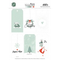 Flocons snowflakes collection embellishments sheet of tags by Mes p'tits ciseaux