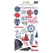 Sheet of motifs 1 - A contre courant collection by Lorelaï Design