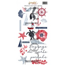 Sheet of motifs 2 - A contre courant collection by Lorelaï Design