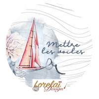 Badge Mettre les voiles - A contre courant collection by Lorelaï Design