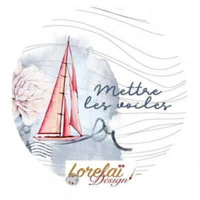 Badge Mettre les voiles - A contre courant collection by Lorelaï Design