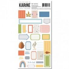 Label Stickers - Cahier d'Automne : Les Ateliers de Karine