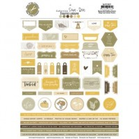 Sous-Bois embellishment sheet by Mes p'tits ciseaux
