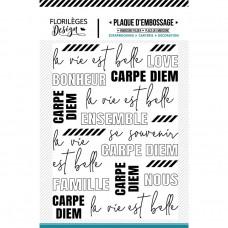 Florileges Design Embossing Folder - La vie est belle